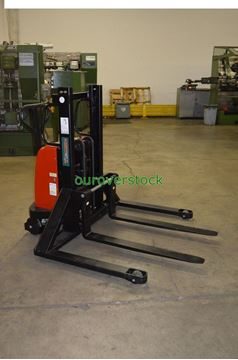 """Picture of Battery Lift Manual Push Straddle Stacker 2,200 lb 36"""" lift height (#112239349146)"""