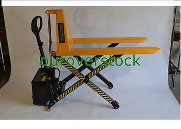 "Picture of Electric Scissor High Lift Pallet Jack Truck 3,300 lb 27"" x 45"" (#121721276431)"