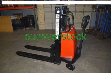 """Picture of Battery Lift Manual Push Stacker 2,200 lb 36"""" lift height (#132132772374)"""